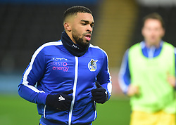 Tareiq Holmes-Dennis of Bristol Rovers warms up. - Mandatory by-line: Alex James/JMP - 05/12/2018 - FOOTBALL - Liberty Stadium - Swansea, England - Swansea City U21 v Bristol Rovers - Checkatrade Trophy