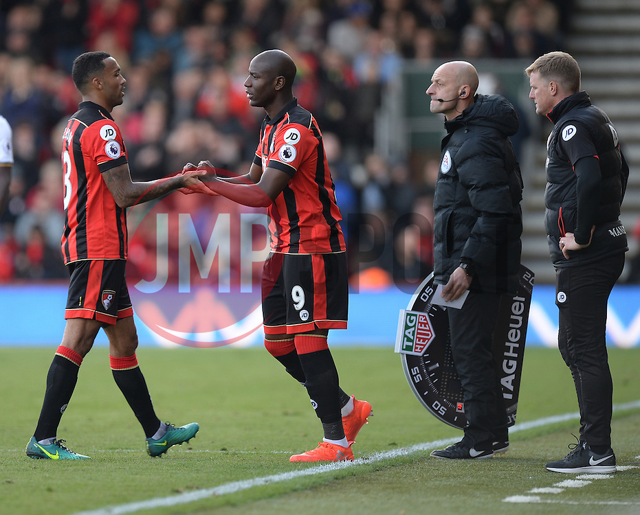 Benik Afobe of Bournemouth replaces Callum Wilson of Bournemouth - Mandatory by-line: Alex James/JMP - 22/10/2016 - FOOTBALL - Vitality Stadium - Bournemouth, England - AFC Bournemouth v Tottenham Hotspur - Premier League