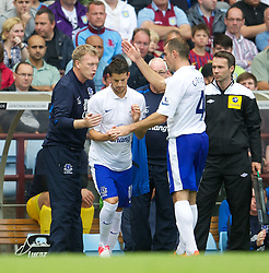 BIRMINGHAM, ENGLAND - Saturday, August 25, 2012: Everton's Kevin Mirallas replaces Darron Gibson to make his debut during the Premiership match against Aston Villa at Villa Park. (Pic by David Rawcliffe/Propaganda)