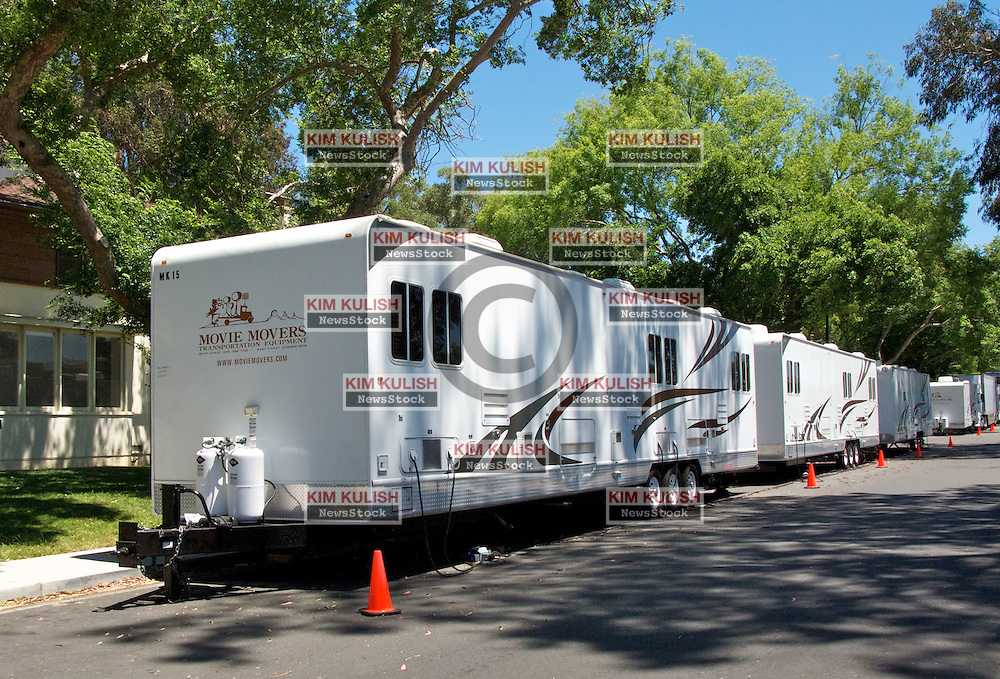 Movie trailers line Azuar Street on Mare Island as oscar-winning director Paul Thomas Anderson's  film  'The Master' begins filming.  The post WWII-era movie will star Philip Seymour Hoffman, Joaquin Phoenix, Amy Adams and Laura Dern.