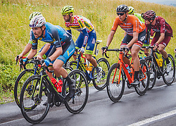07.07.2019, Wels, AUT, Ö-Tour, Österreich Radrundfahrt, 1. Etappe, von Grieskirchen nach Freistadt (138,8 km), im Bild v.l. Stephan Rabitsch (AUT, Team Felbermayr Simplon Wels), Pieter Vanspeybrouck (BEL, Wanty - Gobert Cycling Team), Patrick Gamper (AUT, Tirol KTM Cycling Team) // Stephan Rabitsch of Austria (Team Felbermayr Simplon Wels) Pieter Vanspeybrouck of Belgium (Wanty - Gobert Cycling Team) Patrick Gamper of Austria (Tirol Cycling Team) during 1st stage from Grieskirchen to Freistadt (138,8 km) of the 2019 Tour of Austria. Wels, Austria on 2019/07/07. EXPA Pictures © 2019, PhotoCredit: EXPA/ Reinhard Eisenbauer
