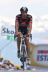 25/05/2010 Etape 16 - 93? GIRO D'ITALIA - Tour d'Italie - Contre la montre individuelle 12,9 km. San Vigilio Di Marebbe - Plan De Corones, Italy. .© Photo Pierre Teyssot / Sportida.com.ZANDIO ECHAIDE Xabier.ESP.GCE during the time trial, 16th stage on 25/05/2010, 2010 in Plan de Corones, Kron Platz, Italy.
