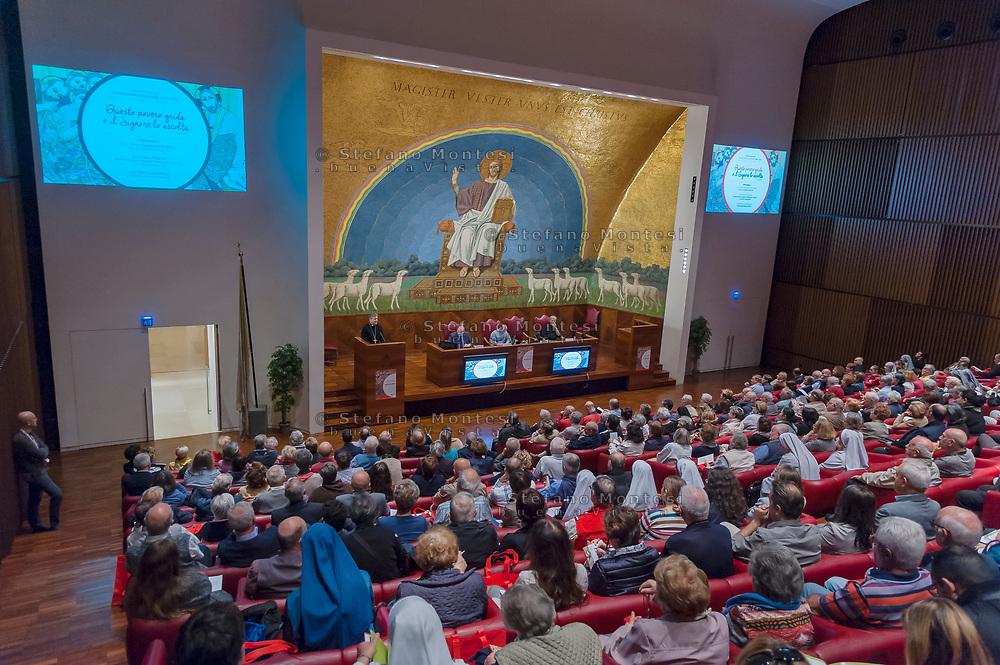 ROME, ITALY - OCTOBER 20: La  Caritas diocesana di Roma presenta il programma pastorale per gli animatori della carità con don Benoni Ambarus nuovo direttore della Caritas di Roma e Simone Iannone Segretario Generale della Caritas di Roma Presso l'Aula Magna della Pontificia Università Lateranense on October 20, 2018 in Rome, Italy.