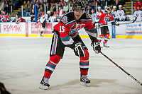 KELOWNA, CANADA - OCTOBER 3:  Colton Sissons #15 of the Kelowna Rockets skates on the ice against the Vancouver Giants at the Kelowna Rockets on October 3, 2012 at Prospera Place in Kelowna, British Columbia, Canada (Photo by Marissa Baecker/Getty Images) *** Local Caption *** Colton Sissons;