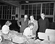 15/10/1952<br /> 10/15/1952<br /> 15 October 1952<br /> P.J. Carroll and Co. Ltd tobacco factory, Dundalk. Visit of Sean MacEntee, Minister for Finance to the Factory.  Picture shows (l-r):  Mr. M. Kerley, Factory Manager;  Minister MacEntee and  Mr. Walther J. Carroll, Director.