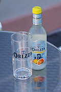 Shop and bar at the source of Eau d'Orezza (Orezza mineral water). Pamplemousse et Cedrat (grapefruit flavored).