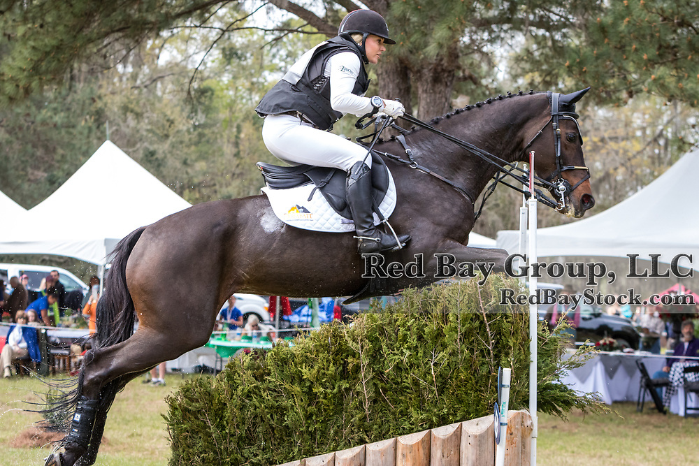 Marilyn Little (USA) and RF Scandalous at the Red Hills International Horse Trials in Tallahassee, Florida.