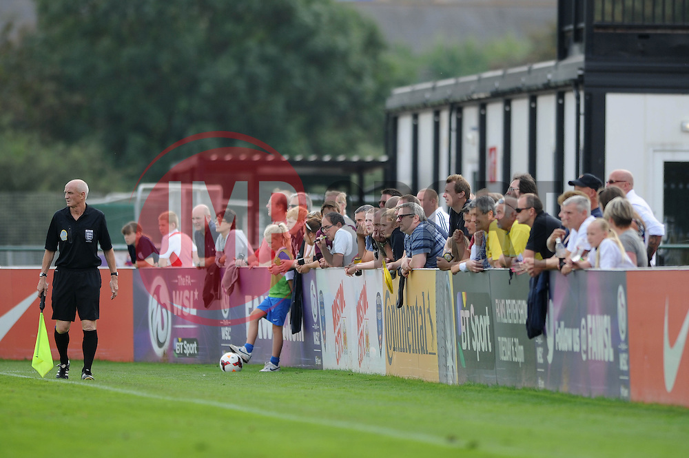 Fans  - Photo mandatory by-line: Dougie Allward/JMP - Mobile: 07966 386802 - 28/09/2014 - SPORT - Women's Football - Bristol - SGS Wise Campus - Bristol Academy Women's v Manchester City Women's - Women's Super League