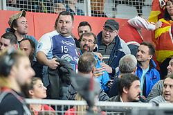 Veselin Vujovic, head coach of Slovenia during handball match between National teams of Macedonia and Czech Republic on Day 6 in Main Round of Men's EHF EURO 2018, on January 23, 2018 in Arena Varazdin, Varazdin, Croatia. Photo by Mario Horvat / Sportida
