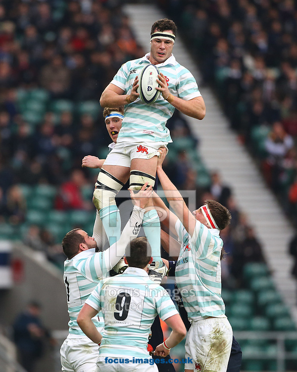 Andrew Hunter of Cambridge University in the line out during The Varsity Match at Twickenham Stadium, Twickenham<br /> Picture by Mark Chappell/Focus Images Ltd +44 77927 63340<br /> 08/12/2016