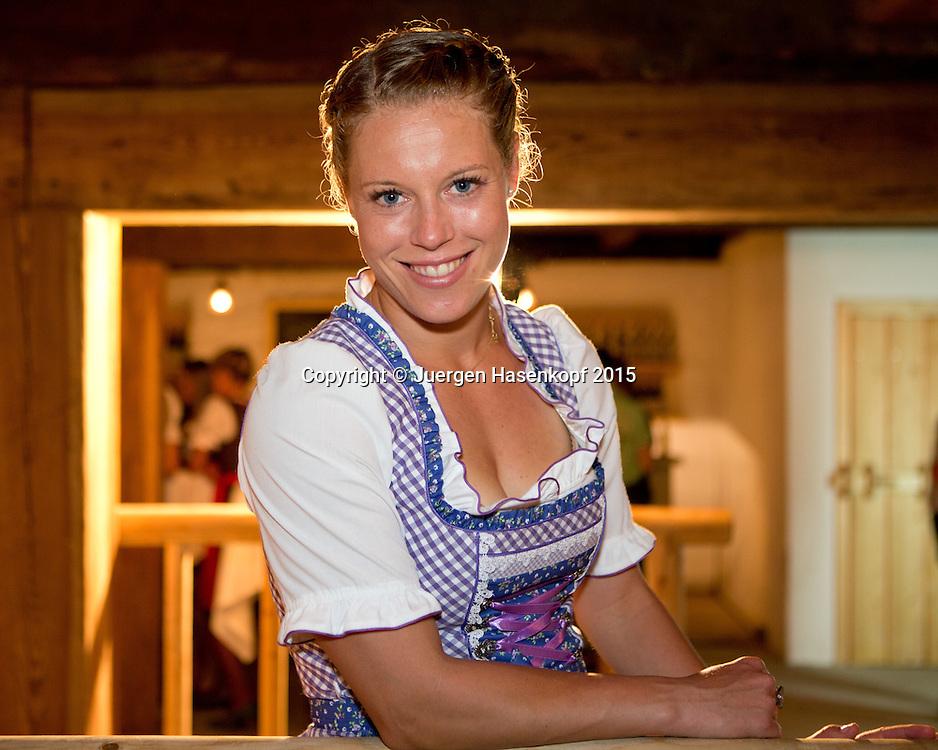 Laura Siegemund (GER) im Dirndl  auf der Player's Party,privat,<br /> <br /> Tennis - Gastein Ladies 2015 - WTA -  Europaeischer Hof - Bad Gastein -  - Oesterreich - 21 July 2015. <br /> &copy; Juergen Hasenkopf