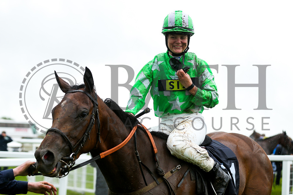 Laura Coughlan on Ever Rock (trained by Stan Moore) wins the 1645 Value Rater Racing Club Is Free Handicap during Ladies Day at Bath Racecourse - Rogan/JMP - 15/06/2019 - HORSERACING - Bath Racecourse - Bath, England.