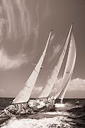 Ticonderoga at the Antigua Classic Yacht Regatta