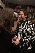 Charlotte Colbert; Philip Colbert, Book launch for 'I Should Have Said' by Daisy de Villeneuve, John Sandoe Books, Blacklands Terrace. Chelsea, London. 10 March 2015.