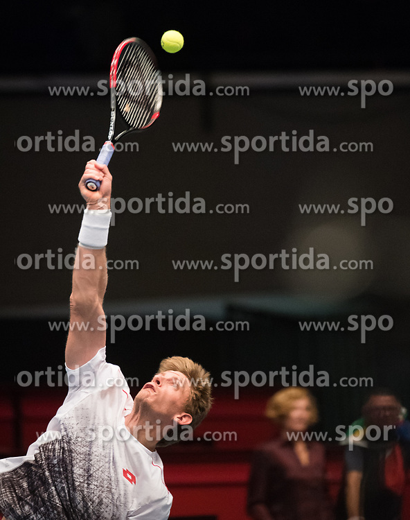 27.10.2018, Wiener Stadthalle, Wien, AUT, ATP Tour, Erste Bank Open, Halbfinale, im Bild Kevin Anderson (ZAF) // Kevin Anderson of South Africa during the semi finals of Erste Bank Open of ATP Tour at the Wiener Stadthalle in Wien, Austria on 2018/10/27. EXPA Pictures © 2018, PhotoCredit: EXPA/ Michael Gruber
