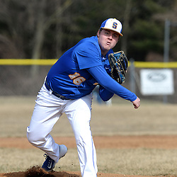 Staff photos by Tom Kelly IV<br /> Springfield starting pitcher Jared Morris (16) throws a pitch during the Springfield at Cardinal O'Hara baseball game on Tuesday afternoon, March 24, 2015.