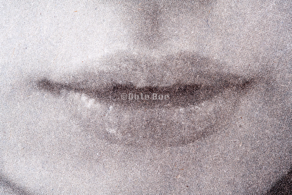 mouth close up with halftone dots