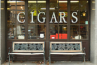 Storefront of Cigar Shop Downtown Main Street Bethlehem Pennsylvania
