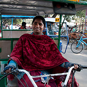 India. Bihar. Bodhgaya. Female auto driver.