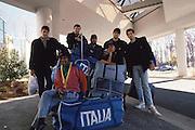 Tournée USA 1987<br /> vescovi, galleani, petrazzini, jacopini, della valle carlo