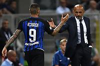 Mauro Icardi, Luciano Spalletti Inter <br /> Milano 20-08-2017 Stadio Giuseppe Meazza <br /> Calcio Serie A Inter - Fiorentina Foto Andrea Staccioli Insidefoto
