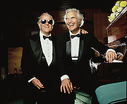 George Shearing and Dave Brubeck before their concert at the Royal Festival Hall during Capital Radio Music Festival's JVC Jazz Week