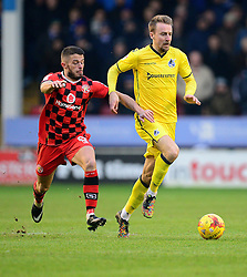 Chris Lines of Bristol Rovers under pressure from Florent Cuvelier of Walsall - Mandatory by-line: Alex James/JMP - 21/01/2017 - FOOTBALL - Banks's Stadium - Walsall, England - Walsall v Bristol Rovers - Sky Bet League One
