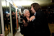 DAME JUDY DENCH; TREVOR NUNN, The South Bank Sky Arts Awards , The Dorchester Hotel, Park Lane, London. January 25, 2011,-DO NOT ARCHIVE-© Copyright Photograph by Dafydd Jones. 248 Clapham Rd. London SW9 0PZ. Tel 0207 820 0771. www.dafjones.com.