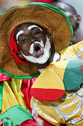 Jan 22, 2006; Alexandria, EGYPT; Guinea supporter during the South Africa vs Guinea soccer game at the 'Africa Cup Of Nations' in Egypt. South Africa lost to Guinea 0-2 (Credit Image: © JB Autissier/Panoramic/ZUMAPRESS.com)
