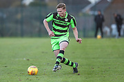 Forest Green Rovers Alex Hallett passes the ball during the The Central League match between Cheltenham Town Reserves and Forest Green Rovers Reserves at The Energy Check Training Ground, Cheltenham, United Kingdom on 28 November 2017. Photo by Shane Healey.