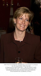 HRH THE COUNTESS OF WESSEXat a luncheon in London on 7th December 2000.OJZ 46