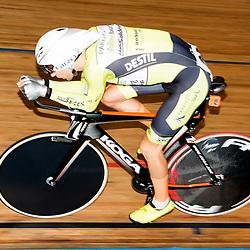 28-12-2015: Wielrennen: NK Baan: Alkmaar   <br />ALKMAAR (NED) baanwielrennen<br />Op de wielerbaan van Alkmaar streden de wielrenners om de nationale baantitels<br />Jenning Huizenga pakt zilver op de achtervolging mannen