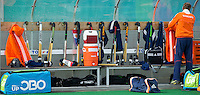 ROTTERDAM -  Dug Out  Netherlands.  Practice Match  Hockey : Netherlands Boys U16  v England U16 . COPYRIGHT KOEN SUYK