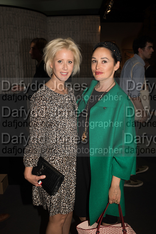 ELISABETH ESTEVE; KIM MURDOCH, The LAPADA Art & Antiques Fair - private view, Berkeley Sq. London. 12  September 2016