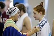 September 21, 2019: The Oklahoma Christian University swim team competes in the Sam Freas Invitational at the Edmond YMCA Recreation and Aquatic Center in Edmond, Oklahoma.