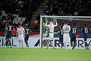Kevin Trapp (PSG) stopped the ball kicked by Jonathan DELAPLACE (SM Caen) during the French Championship Ligue 1 football match between Paris Saint-Germain and SM Caen on May 20, 2017 at Parc des Princes stadium in Paris, France - Photo Stephane Allaman / ProSportsImages / DPPI