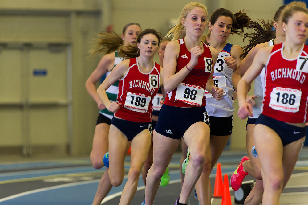 KINGSTON, RI - FEBRUARY 17: Atlantic 10 Indoor Track and Field Championships at the University of Rhode Island on February 17, 2013, in Kingston, Rhode Island. (Photo by Daniel Petty/Atlantic 10 Conference)
