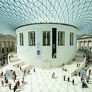 Exterior of the Reading Room in The Great Court of the British Museum in London