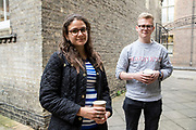 Hannah Marcarian and Mark Bittlestone, students who voted in local elections in Cambrudge. Interviewed by Amelia Gentleman. Photos by Antonio Olmos