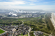 Nederland, Noord-Holland, Wijk aan Zee , 09-04-2014; overzicht IJmuiden Steel Works van Tata Steel vanuit Wjk aan Zee.<br /> Overview IJmuiden Steel Works, part of Tata Steel. <br /> luchtfoto (toeslag op standard tarieven);<br /> aerial photo (additional fee required);<br /> copyright foto/photo Siebe Swart