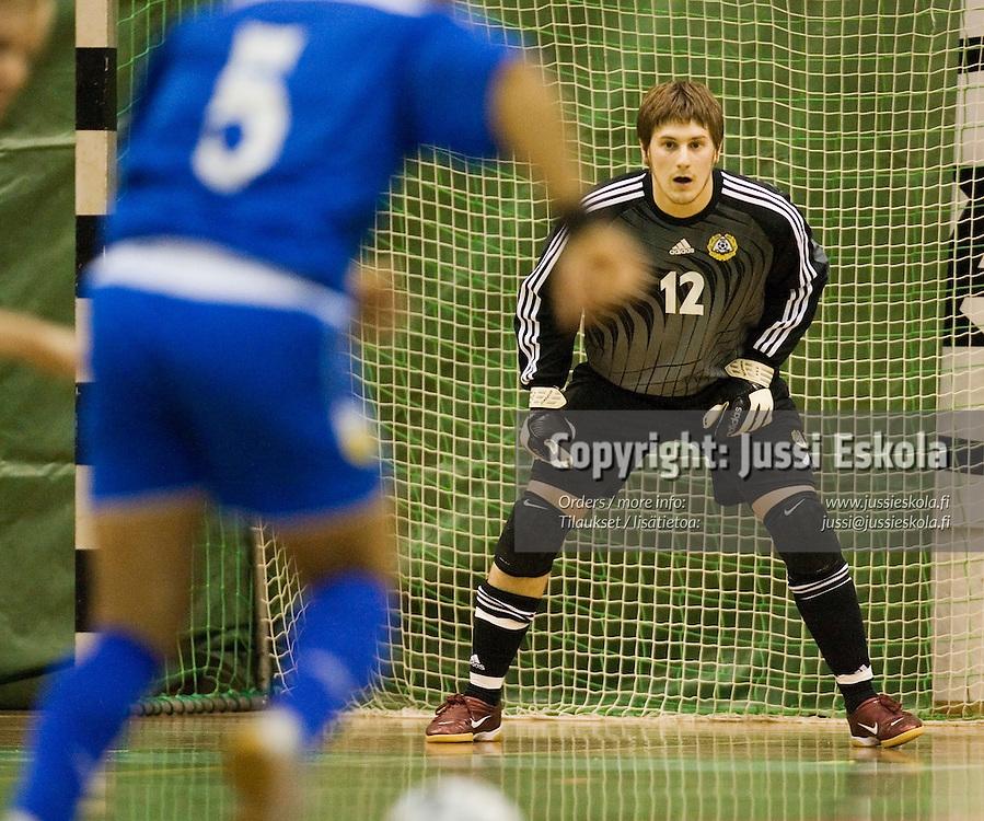 Marko Laaksonen.&amp;#xA;Futsal-maaottelu Suomi - Kypros 20.12.2006.&amp;#xA;Photo: Jussi Eskola<br />