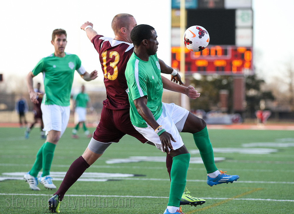 March 29, 2014: The OKC Energy FC play the Midwestern State University Mustangs in a USL Pro preseason game at Yukon High School in Yukon, Oklahoma.