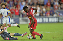 October 6, 2017 - Orlando, Florida, United States - Orlando, FL - Friday Oct. 06, 2017: Jaime Penedo, Jozy Altidore during a 2018 FIFA World Cup Qualifier between the men's national teams of the United States (USA) and Panama (PAN) at Orlando City Stadium. (Credit Image: © John Todd/ISIPhotos via ZUMA Wire)