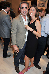 GILES & KATE ENGLISH at the launch of the Bremont Boutique, 29 South Audley Street, London on 17th July 2012.