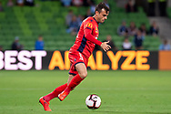 MELBOURNE, AUSTRALIA - APRIL 13: Adelaide United forward Nikola Mileusnic (17) controls the ball during round 25 of the Hyundai A-League soccer match between Melbourne City FC and Adelaide United on April 13, 2019 at AAMI Park in Melbourne, Australia. (Photo by Speed Media/Icon Sportswire)