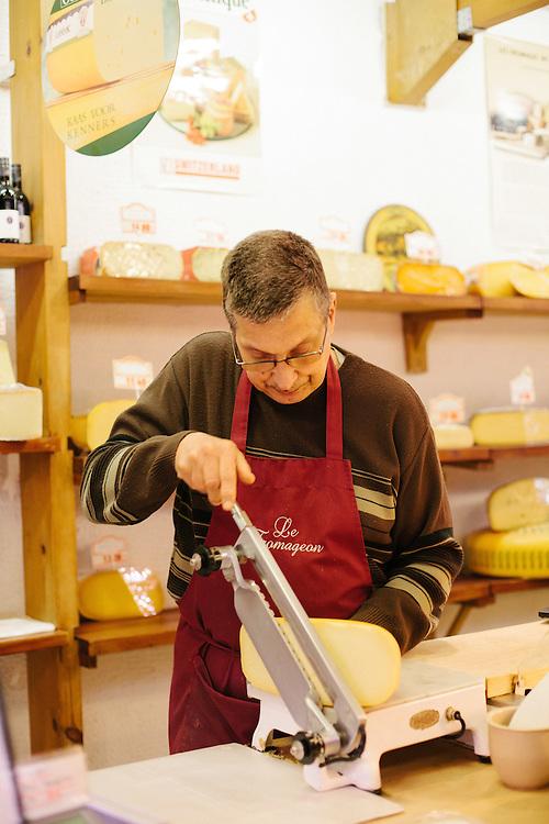 Fernand Lebrun, Cheesemonger.
