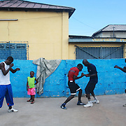 Ghana. Accra. The small and poor area of Bukom is the heartbeat of Ghanian boxing and has produced several world class fighters.