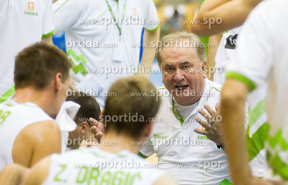 Bozidar Maljkovic, head coach of Slovenia during friendly match between National teams of Slovenia and Turkey for Eurobasket 2013 on August 4, 2013 in Arena Zlatorog, Celje, Slovenia. (Photo by Vid Ponikvar / Sportida.com)