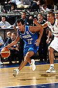 DESCRIZIONE : Madrid Spagna Spain Eurobasket Men 2007 Qualifying Round Germania Italia Germany Italy GIOCATORE : Massimo Bulleri<br /> SQUADRA : Nazioanle Italia Uomini Italy <br /> EVENTO : Eurobasket Men 2007 Campionati Europei Uomini 2007 <br /> GARA : Germania Italia Germany Italy <br /> DATA : 12/09/2007 <br /> CATEGORIA : Palleggio<br /> SPORT : Pallacanestro <br /> AUTORE : Ciamillo&amp;Castoria/H.Bellenger Galleria : Eurobasket Men 2007 <br /> Fotonotizia : Madrid Spagna Spain Eurobasket Men 2007 Qualifying Round Germania Italia Germany Italy Predefinita :