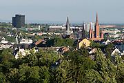 Blick auf Wiesbaden, Marktkirche, Wiesbaden, Hessen, Deutschland | view of city of Wiesbaden, Hesse, Germany